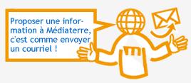 Proposer une information à Médiaterre c'est comme envoyer un courriel