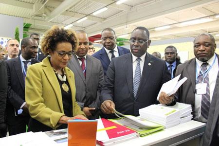 S.E. Mme Michaëlle Jean, Secrétaire générale de la Francophonie, et S.E. M. Macky Sall, Président de la République du Sénégal